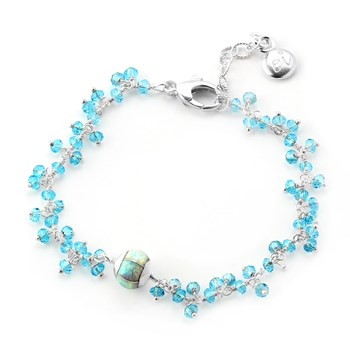 348510-Light Blue Quartz Bracelet