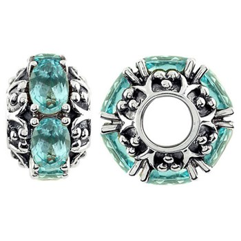 Storywheels Swiss Blue Topaz Sterling Silver Wheel-330893