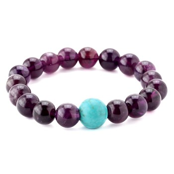 346332-Amethyst and Turquoise Bracelet