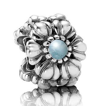 342384- PANDORA Birthday Bloom March with Aquamarine Charm RETIRED ONLY 1 LEFT!