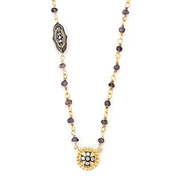 Maltese Cross Iolite Necklace-347166
