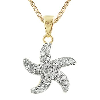 Diamond Starfish Pendant-341568