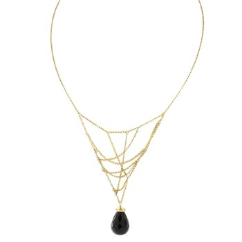 235-488-Onyx Intertwined Necklace