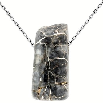 Silver in Black Quartz Pendant-343392