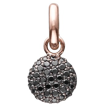 346940-STORY by Kranz & Ziegler Rose Gold Plated Sparkle Globe Charm