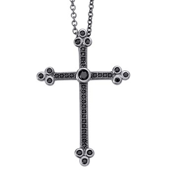 Black Cross Necklace-344801