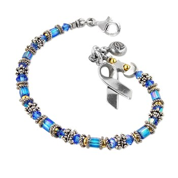179171-Colon Cancer - Miyuki Style Awareness Bracelet