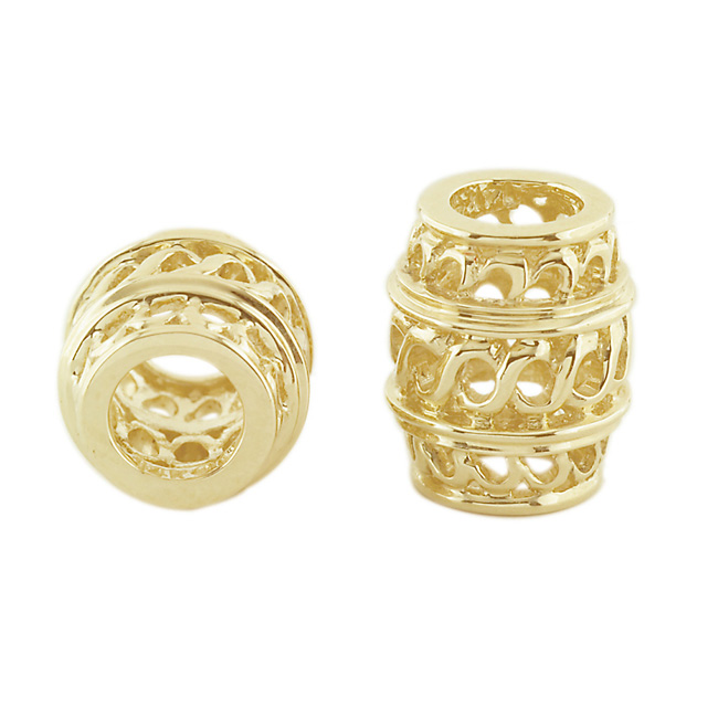 303682-Storywheels Open Weave Barrel Spacer 14K Gold Wheel ONLY 1 AVAILABLE!