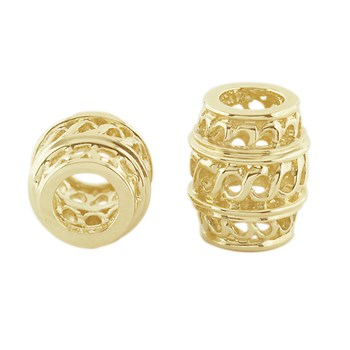 Storywheels Open Weave Barrel Spacer 14K Gold Wheel ONLY 1 AVAILABLE!-303682