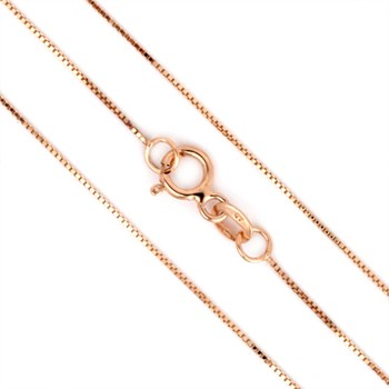 18'' 14K Rose Gold Lite Box Chain-343628