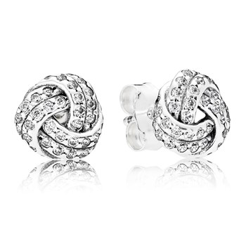 PANDORA Sparkling Love Knots Earrings