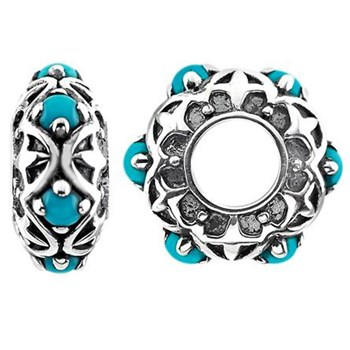 Storywheels Turquoise Sterling Silver Wheel-333754