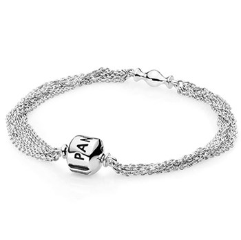 PANDORA Capture Multi Chain One Clip Station Bracelet 591701 RETIRED