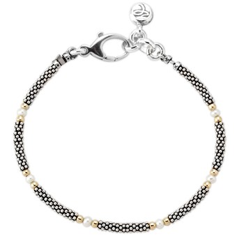341888-White Pearl and Oxidized Sterling Silver Bracelet