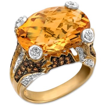 160-260-Citrine & Diamond Ring