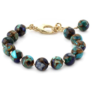 Lollies Azurite and  Malachite Bracelet 344873