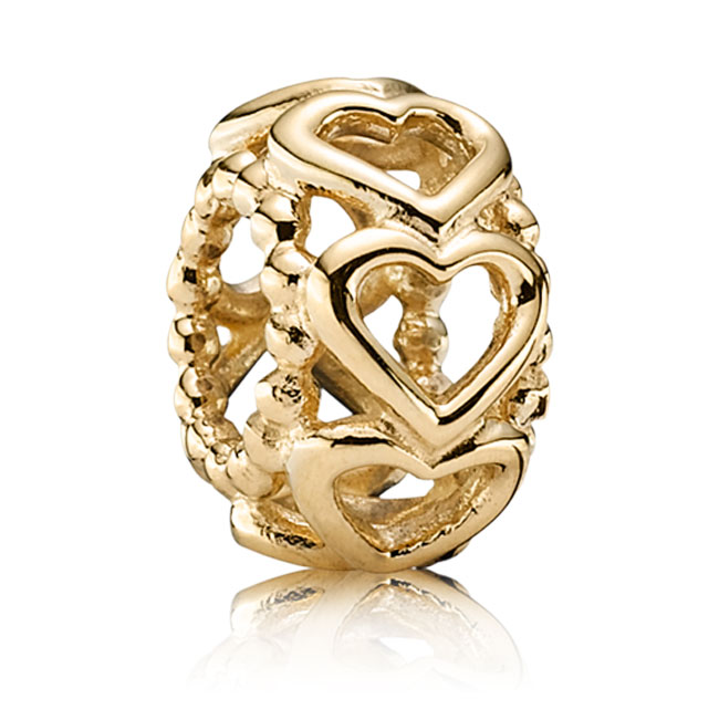 341602-PANDORA 14K Lucky in Love Charm