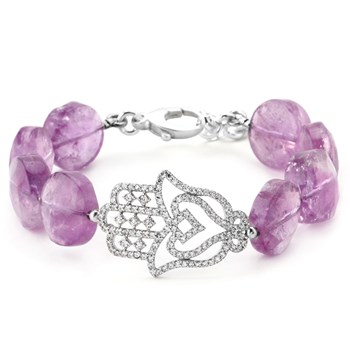Lollies Amethyst and Hamsa Bracelet 344661