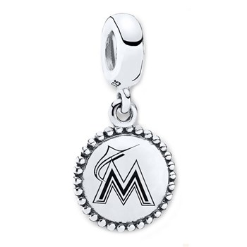 347087-PANDORA Miami Marlins Baseball Charm RETIRED ONLY 3 LEFT!