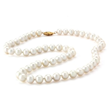 White Pearl Necklace-344066