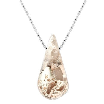 Silver in Quartz Pendant-343377