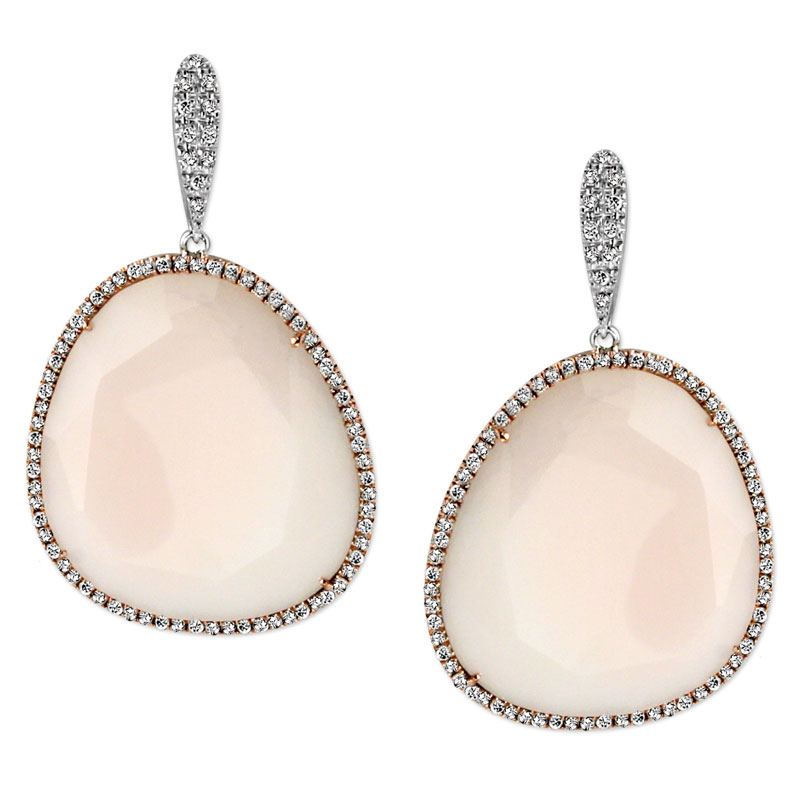 344783-Diamond and Pink Opal Earrings
