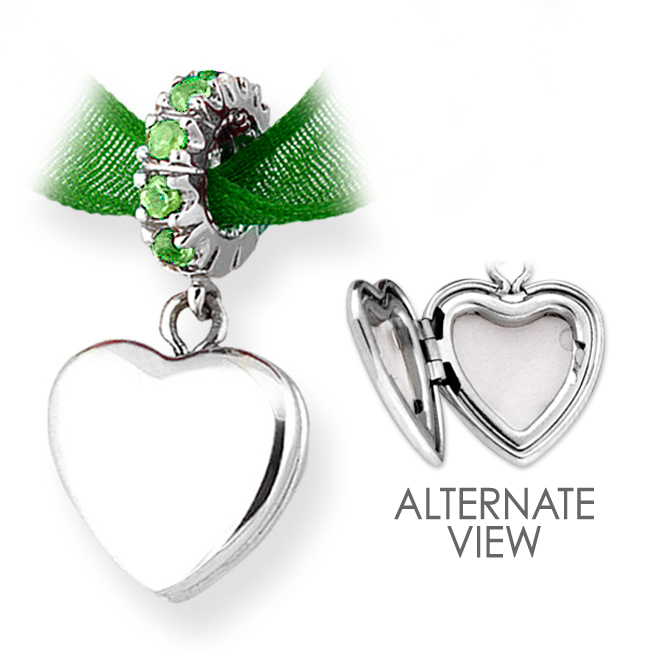 335625-Storywheels Peridot Sterling Silver Locket RETIRED ONLY 2 LEFT!