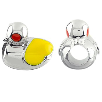 330985-Storywheels Large Duck with Enamel Sterling Silver Charm