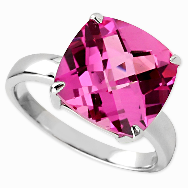 347121-Pink Sapphire CZ Ring