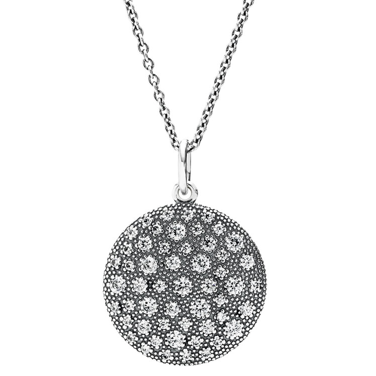PANDORA Cosmic Stars with Clear CZ Necklace-348212