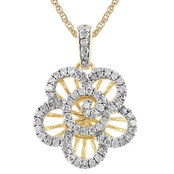 341554-Diamond Flower Pendant