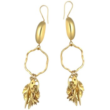 300568-Dragonfly & Leaf Earrings
