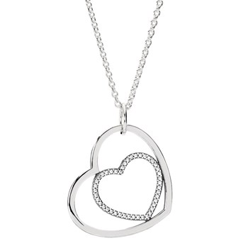 PANDORA Heart to Heart Necklace