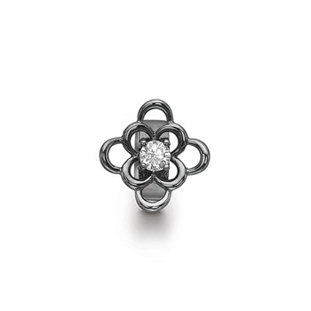 STORY by Kranz & Ziegler Black Rhodium Anemone Ring Button