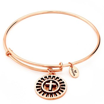 Cross Rose Gold Bangle