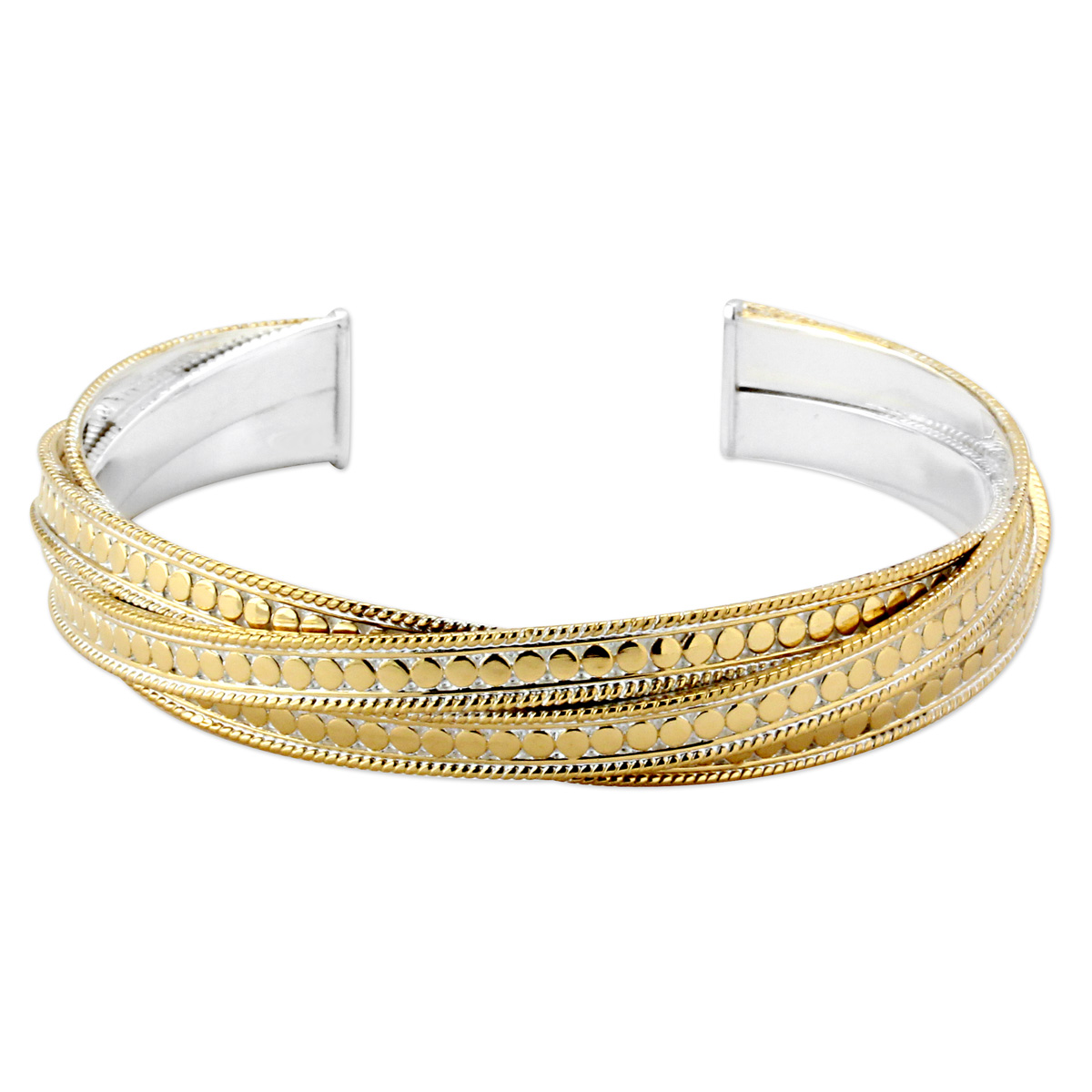345286-Anna Beck Gold Wire Rimmed Bangle