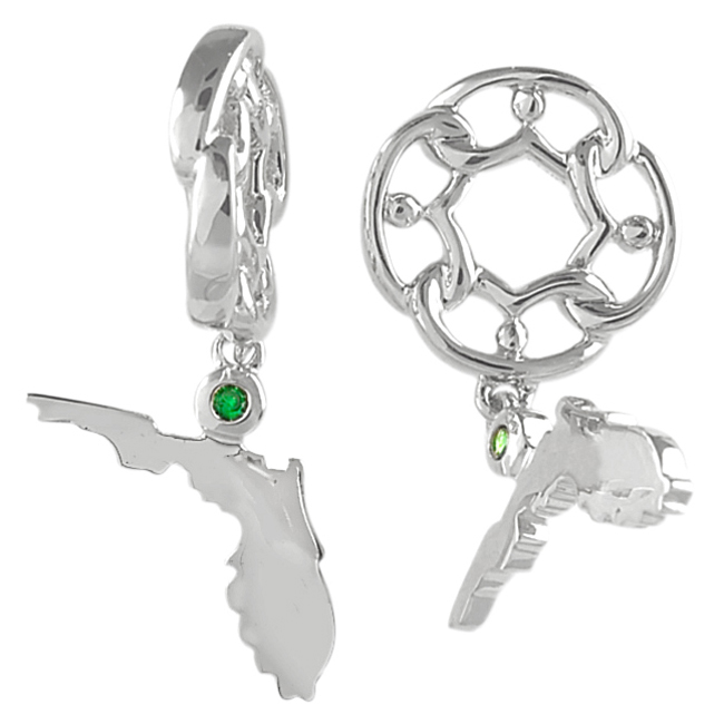 336851-Storywheels Florida with Tsavorite Dangle Sterling Silver Wheel ONLY 2 AVAILABLE!