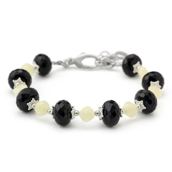 Pineapple Quartz & Agate Bracelet-240-3340