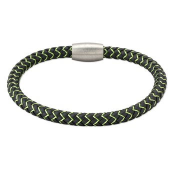 343254-Green Copper & Rubber Bracelet