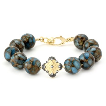 344504-Lollies Blue and Brown Jasper Bracelet