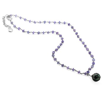 Black Pearl & Tanzanite Necklace-348933