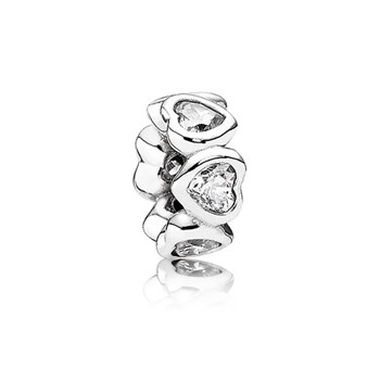 345483-PANDORA Space In My Heart with Clear CZ Spacer