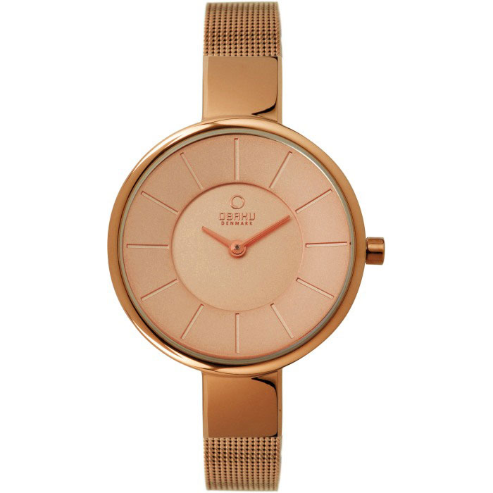 500-25-Obaku Women's Rose Gold Mesh Watch