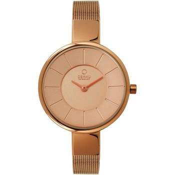 500-25-Women's Rose Gold Mesh Watch