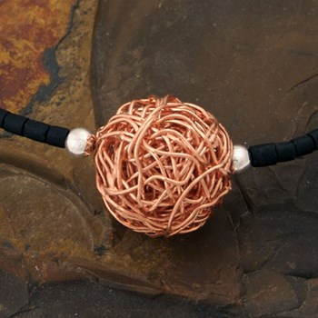 Copper Mesh Necklace-323543