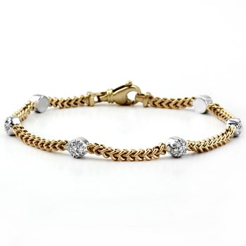Diamond & Gold Bracelet-340512