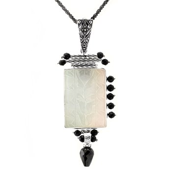 Asymmetrical Rectangle Pearl Pendant-341792