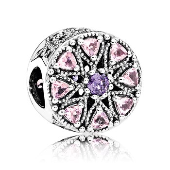 PANDORA Shimmering Medallion with Multi-Colored CZ