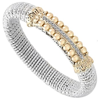 Beaded Bar Diamond Bracelet-344531
