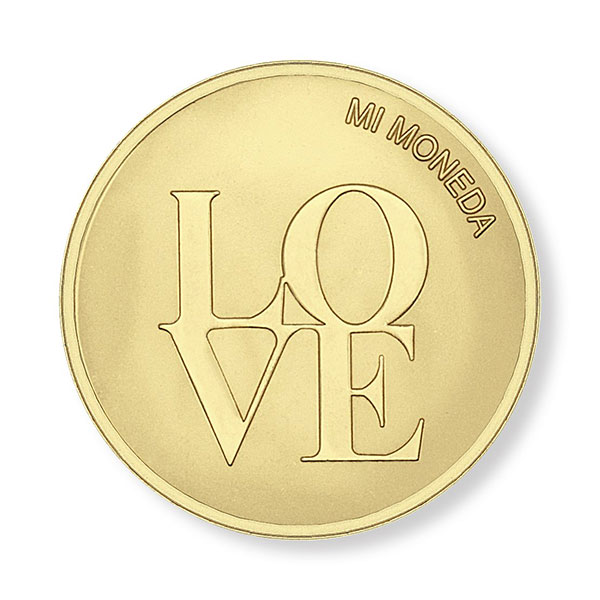 347294-Mi Moneda Love & Dreamcatcher Gold-Plated Disc - ONLY 1 LEFT